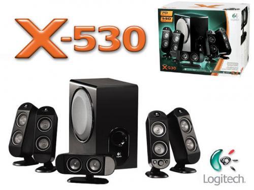 Logitech X-530 PC Multimedia Home Theatre Speaker System - 70 Watt (Total) (5.1) - £39.99 @ Amazon
