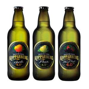 Kopparberg 500ml bottle Pear 4.5% £0.99, Mixed Fruits 4% £1.29, Apple @ Home Bargains