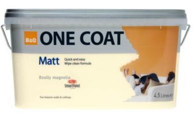 B&Q One Coat Matt Brilliant White 4.5L was £17.48 now £5.00! @ B&Q