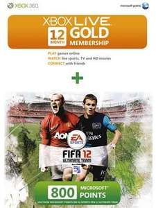 Xbox Live Gold 12 month + 800 Microsoft Points £29.97 @ Asda (instore)