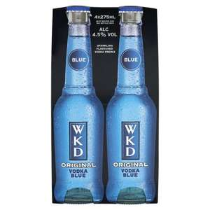 WKD Original Vodka Blue 4 Pack (4 x 275ml) £3.03 at Tesco