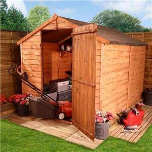 8 x 6 20M Windowless Overlap Apex Shed for £144.90 (8 x 6) @ Garden Buildings Direct