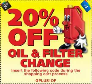 Oil & Filter change from £18 ! Book online, @ National