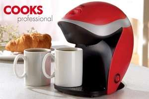 2 cup electric coffee maker with 2 ceramic mugs 19.99 + 3.95 postage @ Groupon - James Russell