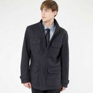 Stanley Adams Grey wool blend four pocket coat Was £110 - £33.00  Debenhams