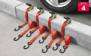 set of 4 ratchet straps from lidl £9.99 in store from thursday 23rd