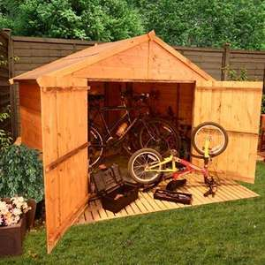 3 x 7 Bike Store Tongue and Groove for £129.49 @ Garden Buildings Direct