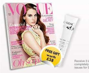 3 issues of Vogue for £1 + free gift to celebrate London Fashion Week