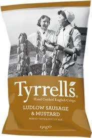 Tyrrells Ludow Sausage & Mustard (150g) Crisps £1 was £1.89 @ Tescos instore only