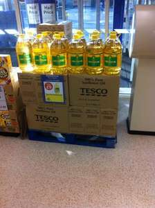 5Ltr Sunflower oil  2 for £9 @ Tesco