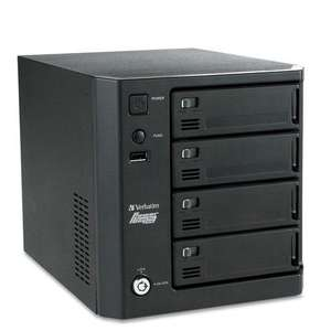 Verbatim PowerBay DataBank 4 Bay NAS with 2x Gigabit and RAID 0/1/5/6! £94.90 at iBood