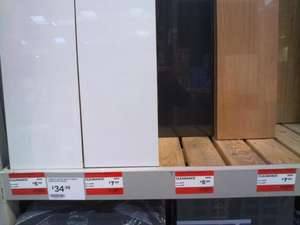 B&Q floating shelves 2 sizes(80 x 20 cm & 120 x 20 cm) white, black, beech effect & oak effect. £5 & £7 INSTORE @ B&Q
