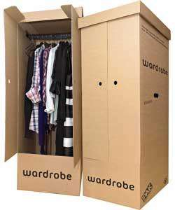 WOW Set of 2 Cardboard Wardrobe Storage Boxes - Brown ARGOS £29.99