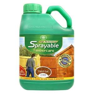 Wilko High Performance Sprayable Timbercare 5ltr - £2.70 INSTORE only (75% off) @ Wilkinson