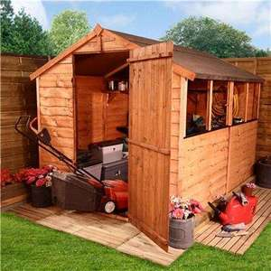 BillyOh 20M Rustic Economy Overlap Apex Shed 8 x 6 20M Rustic Overlap Apex £134.49 at Garden Buildings Direct