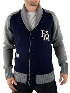 Franklin & Marshall Navy Shawl Varsity Knit for £61.00 @ Stand-Out