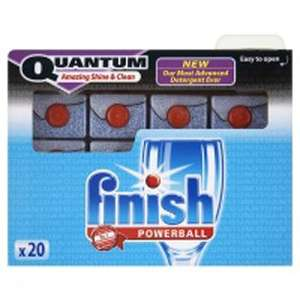 Finish Quantum Dishwasher Powerball Tablets 20s - £7.65 reduced to £1.72 @ Wilkinsons