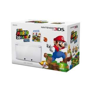 Ice White 3DS with Super Mario 3D Game only £129.91 @ Tesco Direct and Amazon