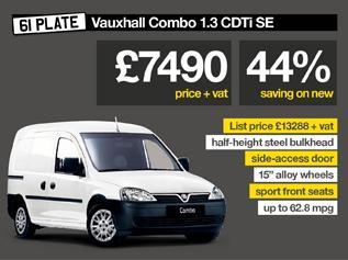 Vauxhall Combo Van for £7490+vat Peter Vardy