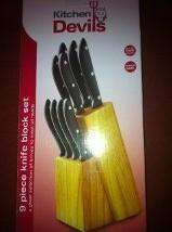 Kitchen Devils 9 piece knife block £10 @ ASDA