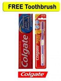 Colgate Toothpast Maximum Cavity Protection + Colgate Double Action Tooth Brush  £2.85 with delivery > concord