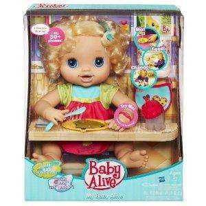 Hasbro Baby Alive My Real Baby (includes bottle, spoon, bowl, 2 food packets, bib & nappies) £22.31 @ Amazon