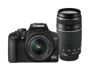 Canon EOS 1000D / Rebel XS 10.1 MP - 18-55mm + 75-300 mm Lenses (Refurbished) £282.94 @ Canon (digitalriver) / Ebay