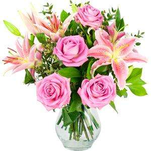 Roses & Lilies Mothers Day Bouquet - £17.91 - iflorist - reduced from £34.90 to £19.90 + 10% off and Quidco!