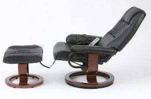 Restwell Napoli Black Leather Swivel Recliner Electric Massage Chair + Footstool  from first furniture £177.95