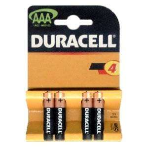 Duracell Batteries AAA Pack of 4 - Caboodle - £1.79