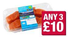 3 for £10 @ Co-op - The Co-operative British Lean Beef Steak Mince - 650g, The Co-operative 2 Scottish skin on salmon fillets - 220g, The Co-operative healthier choice Elmwood British skinless diced chicken breast. 375g,  & The Co-operative Elmwood f
