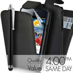 Samsung Galaxy S2 (or iPhone 4/HTC Wildfire S) - Flip Leather Case, Screen Protector, and Stylus for £0.99 delivered @ gadgetsntechs (eBay)