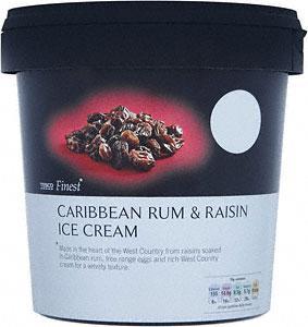 INSTORE only Tesco Finest Caribbean Rum & Raisin Ice Cream £1.89 for 1L