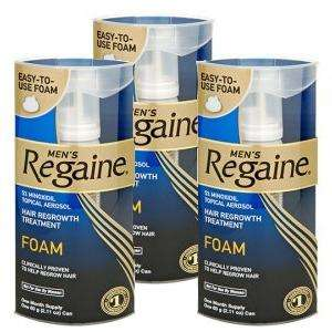 Hair today, gone tomorrow? Regaine Foam For Men - (Contains Minoxidil) - 3 Month Supply for £44.99 @ Pharmacyfirst