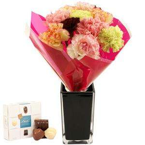 Fruit Salad Carnations + Chocolates for Mothers Day - £9.90 (inc del) @ iFlorist - minus 10% code and 12% quidco = £7.84