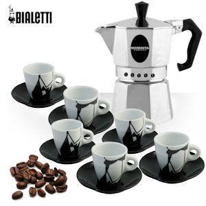 Bialetti Morenita Espesso Coffee maker with 6 pcs cup set, ibood, £16.95 + £7.95 del
