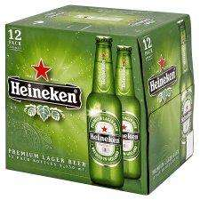 Heineken 12x 330ml Bottles/Cans £5 @ Tesco