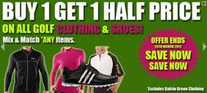 Buy 1 Get 1 Half Price on all Golf Clothing & Shoes (except Galvin Green) @ Click Golf