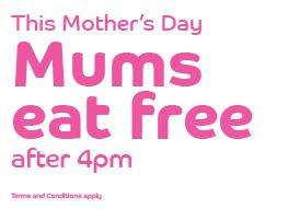 Brewers Fayre :- Mums eat 'free' after 4pm this Mothers Day