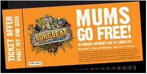 Mums go free to Longleat safari park with a full paying child 17th & 18th March