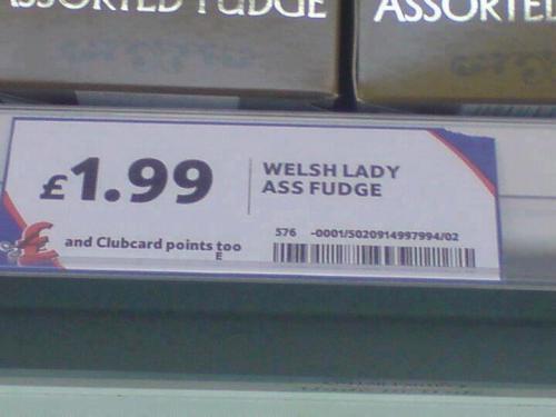 Welsh Lady Ass Fudge £1.99 @ Tesco instore