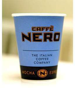 Free Regular Latte, Cappucino, Americano, Hot Chocolate or Tea from Caffe Nero with o2 Priority Moments