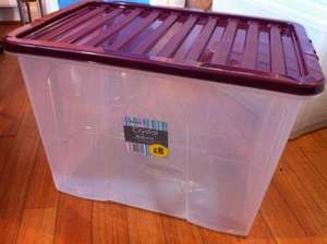 80L Plastic storage tub £2.98 at Morrisons (Stratford) - Was £8