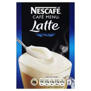 Nescafe Various 8 Sachet Coffee (Latte, Mocha, Vanilla, Irish Cream) £1.50 @ Tesco Instore & Online