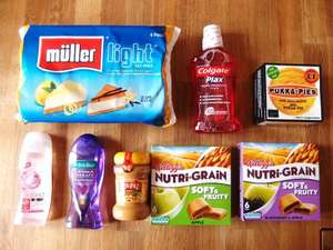 Asda deals - Plax 50p / Nutri-Grain £1 / Imperial Leather £1 / Sun-Pat  £1 / Walkers Sensations £1 / Muller Lights £1.50 / Palmolive £1 / Pukka Pies £1