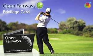 £29 for an Open Fairways 12mth Golf Privilege Card – 2 for 1 Golfing (up to 8 players) at over 1600 Locations! (Normally £89 – Save 67%) @ LyncMeUp