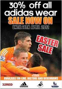 30% OFF all Adidas kit @ Swansea FC superstore