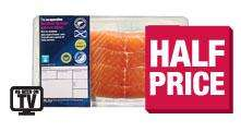 The Co-operative 4 Scottish farmed salmon fillets £3.75, The Co-operative British fresh large unfatted beef roasting joint £4.99 per kg, The Co-operative Elmwood extra large pork leg roast £3.49 per kg (more meat offers in post)