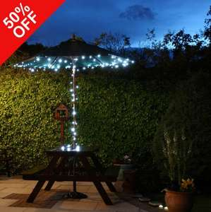 100 LED Solar Fairy Light String - £11.99 plus Free Delivery @ FestiveLights