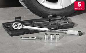 Torque Wrench 5 piece set - Torque range (Nm): 28 - 210 - Lidl £14.99